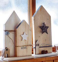 Häuser aus Brettern ausgesägt!