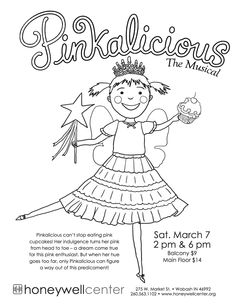 Pinkalicious coloring page- DinoKids.org in 2019 ...