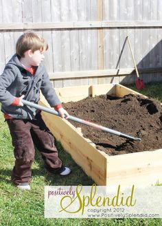 Building a Raised-Bed Garden, I so want to do this with the kiddos.  If only I could keep plants alive for longer than a week