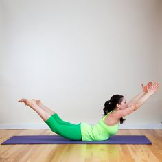 Pin for Later: Let Go of Those Love Handles! A Yoga Sequence to Help Tone Your Tummy Extended Locust