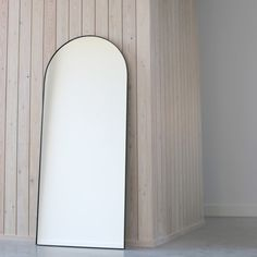 Sunday is a homeware store for people who love good design + contemporary interiors. Shop online for modern homeware, including our Sunday Mirror - a full-length, floor-leaning Arch mirror in contemporary black. Leaning Mirror, Arch Mirror, Mirror Image, Modern Floor Mirrors, Living Room Mirrors, Dream Furniture, Loft Style, Nordic Design, Black Mirror