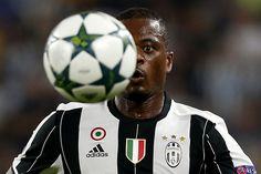 Juventus' French defender Patrice Evra eyes the ball during the UEFA Champions…