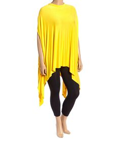This Yellow Handkerchief Tunic - Plus by La Ropas is perfect! #zulilyfinds