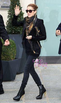 Celine Dion Prettily Preps For Her Concert In Paris!