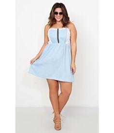 Plus Wild Field Chambray Dress #SFLlovespring