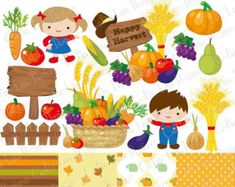 Apple Picking Clipart, Fall Cute Kids clip art includes 23 cute graphics + 4 Digital paper background.  Graphics are PERFECT for the Scrapbooking, Cards Design, Stickers, Paper Crafts, Web Design, T-shirt Design...More and more! Whatever your want!  [Details] ‧This is a digital download products ‧Saved in PNG format (individual PNG with transparent backgrounds) at High Resolution 300 dpi (each graphics largest height or width approximate 5 - 10 inches, small apple are 1 inches for the 10…