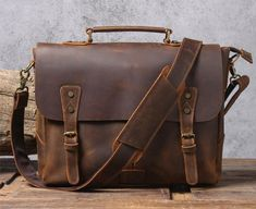 Mens Leather Laptop Bag, Vintage Leather Messenger Bag, Small Leather Bag, Messenger Bag Men, Mens Leather Satchel, Leather Bags, Leather Craft, Briefcase For Men, Satchel Handbags