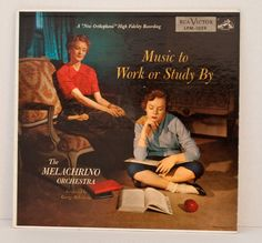 Vinyl LP Album Music To Work or Study By 1954 RCA, Cover Art Melachrino  via Etsy. [Found at Estate sale 10-13]