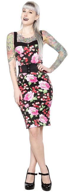 SWITCHBLADE STILETTO DARLING DRESS CHERRY FLORAL <3 <3 <3