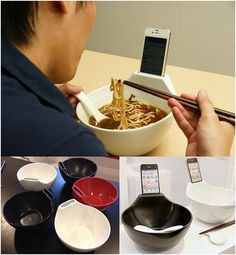 I can't hold my iPhone while I eat my ramen.... First world problems.