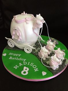 8th Birthday Cake - #Cinderella Carriage