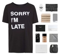 """""""i'll show you"""" by kiiaa ❤ liked on Polyvore featuring Topshop, Vellux, MAKE UP FOR EVER, Casetify, Acne Studios, NARS Cosmetics, Christy, Pantone, adidas and Maison Margiela"""