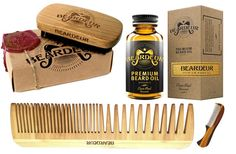 ➔The search for how to groom your beard ends here. Every product you could need is right here in this kit. Beard Oil to help hydrate and moisturize throughout the day. A Boar Bristle Beard Brush to tame and style the wildest of beards. A bamboo beard/hair comb to disperse oils through your beard and a Mini Mustache Comb to keep your stache neat and gentleman like. https://www.amazon.com/dp/B01LZR64WE