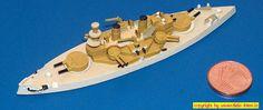 """Linienschiff USS """"Indiana"""" der Indiana-Klasse in Tropenbemalung (Superior A6) 1:1250"""