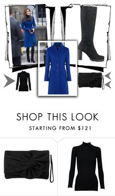 """Kate Middleton Blue Coat"" by kiedisme on Polyvore featuring мода, Karen Millen, Alaïa и Boutique Moschino"