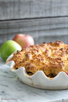 Apple Cobbler - finish off your next dinner party with this indulgent dessert that captures the delicious flavors of fall.