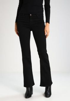 Even&Odd - Flared Jeans - black denim