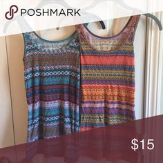 Beautiful Tank Tops! Two very brightly colored and patterned tanks! Mossimo Supply Co Tops Tank Tops