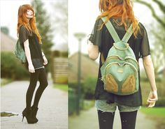 Nadia Esra, super cool gal; I love this backpack here. I'm so jealous of redheads, red hair is beautiful!