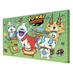 Pyramid America 'Yo-kai Watch - Green Cast' Graphic Art on Wrapped Canvas