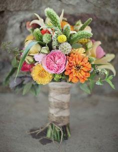 *English rose, lily, rose, zinnia, rosemary, scabiosa pods, seeded eucalyptus  bouquet-bouquet.com
