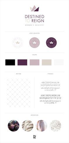 Destined To Reign Logo Design - Crown - Women - Colors: Aubergine, Lavender, Sand, Black, White