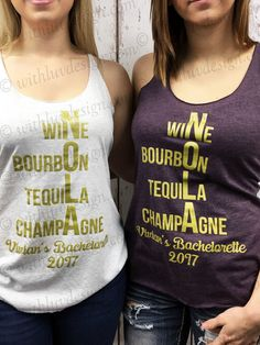 NOLA Bachelorette Party Tank Tops ShirtsBachelorette IdeasBachlorette