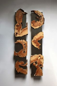 Virginia Birchfield is a mixed media artist that focuses on wall sculptures and furniture, made with wood, steel and concrete. Driftwood Wall Art, Loft Furniture, Wood Tray, Wood Table, Wood Mosaic, Live Edge Wood, Wood Clocks, Wooden Wall Art, Wall Art Designs