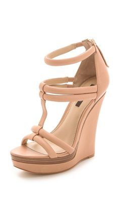 Rachel Zoe Katia Platform Sandals, need! Dream Shoes, Crazy Shoes, Me Too Shoes, Hot Shoes, Wedge Shoes, Brown High Heels, Beige Sandals, Zapatos Shoes, Beautiful Shoes