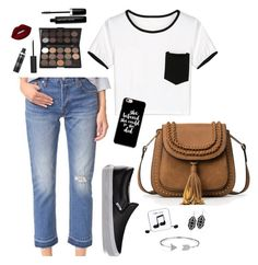 """""""Sweet Spring"""" by laura-rathbone on Polyvore featuring WithChic, Levi's, Vans, Lime Crime, Marc Jacobs, Happy Plugs and Bling Jewelry"""