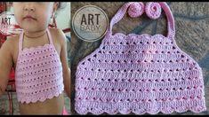 Crochet dress top baby patterns new ideas Crochet Toddler, Baby Girl Crochet, Crochet Baby Clothes, Crochet For Kids, Diy Crochet, Crochet Top, Crochet Halter Tops, Crochet Blouse, Baby Patterns