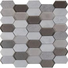 MSI Savoy Picket Pattern 12 in. x 12 in. x 8mm Glass Mesh-Mounted Mosaic Tile (10 sq. ft. / case)-GLSPK-SAVOY8MM - The Home Depot