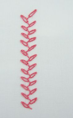 big B: CHAINED FEATHER STITCH [1] via Kimberly Ouimet