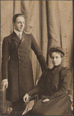 King Alfonso XIII of Spain w Lovely Sister Infanta Maria Theresa RARE Photo | eBay