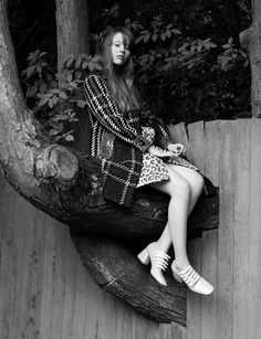 Mia Goth by Ben Toms for Dazed & Confused Fall 2015 - Miu Miu Fall 2015