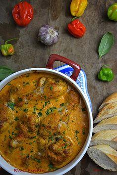 R'n'G Kitchen: Pałki z kurczaka w sosie kokosowo pomidorowym