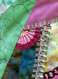 I ❤ crazy quilting & embroidery . .   Whipped stitch ~By Marty52
