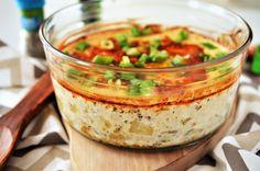 Cartofi quattro formaggi - Retete culinare by Teo's Kitchen Jamie Oliver, Ravioli, Mozzarella, Hummus, Fondue, Food And Drink, Healthy Eating, Potatoes, Cooking
