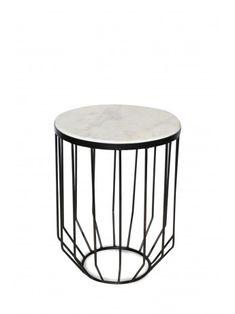 Harlow Black Side Table 38cm x 38cm x 51cm