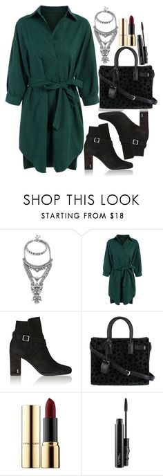 """Untitled #1648"" by mihai-theodora ❤ liked on Polyvore featuring BaubleBar, Yves Saint Laurent, Ciaté and MAC Cosmetics"