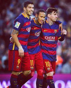 Luis Suarez, Neymar Jr. And Messi