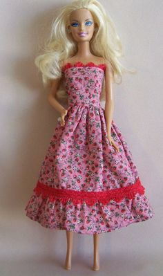 Handmade Barbie Doll Clothes Pink with by PersnicketyGrandma, $6.00