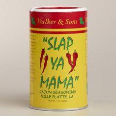 One of my favorite discoveries at WorldMarket.com: Slap Ya Mama Cajun Seasoning