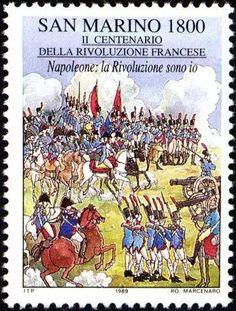 Sello: Napoleon (San Marino) (Bicentenary of the French Revolution) Mi:SM 1423,Sn:SM 1186,Un:SM 1264