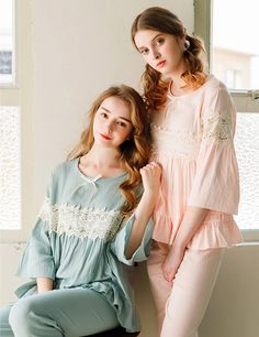 Dreamy Hollow Out Bowknot Sleepwear - Alma Night Suit For Girl, Girls Night Dress, Night Gown Dress, Night Dress For Women, Kids Dress Wear, Stylish Dresses For Girls, Sleepwear Women, Pyjamas, Fashion Dresses