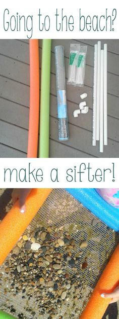 We need these for finding seashells and shark teeth! DIY sifter Source by Seashell Crafts, Beach Crafts, Diy Crafts, Beach Trip, Beach Day, Shark Teeth Crafts, Fossil Hunting, Science Activities For Kids, Summer Fun