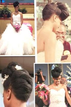 Natural Hair Brides are the Bomb dot com!  Beyond gorgeous.