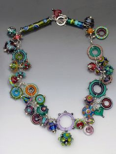 Candy+Necklace:+handmade+glass+lampwork+by+LisaInglertJewelry $458
