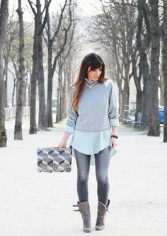 Look pastel avec le jean de bonnasse