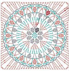 Crochet Border Patterns, Crochet Snowflake Pattern, Crochet Flower Tutorial, Crochet Blocks, Crochet Mandala, Crochet Motif, Crochet Designs, Thread Crochet, Crochet Stitches